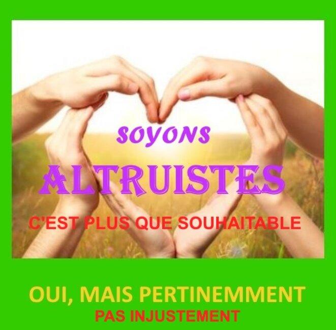 Altruisme juste © x