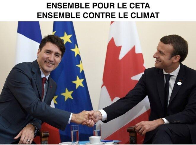 Macron et Trudeau, ensemble pour le CETA, ensemble contre le climat !