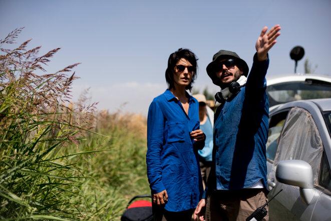 la actriz Bárbara Lennie (en la izquierda) e el director Diego Lerman (en la derecha) © DR