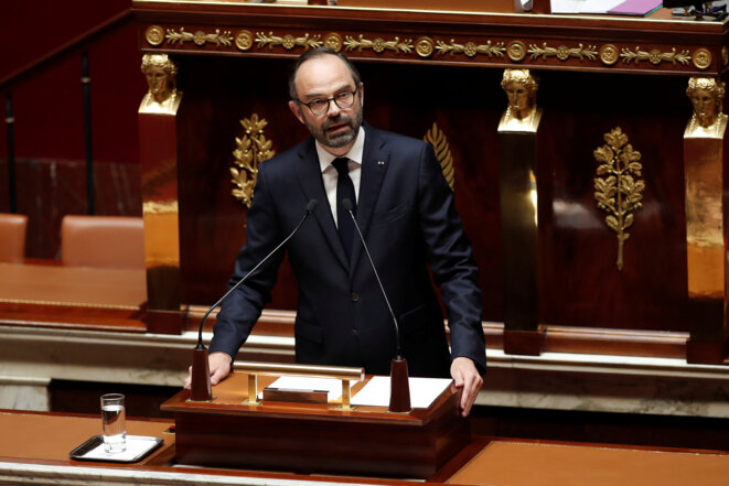 Édouard Philippe, lundi 16 avril 2018 à l'Assemblée. © Reuters