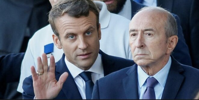 French interior minister Gérard Collomb (right) with President Emmanuel Macron. © Reuters