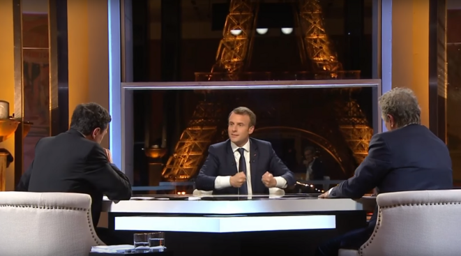 Emmanuel Macron, interview du 15 avril