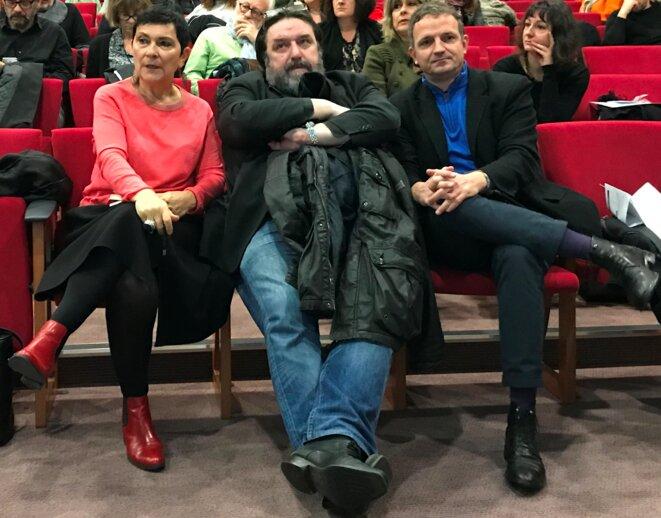 Marie-Arlette Carlotti, Michel Pouzol, François-Michel Lambert [Photo YF]