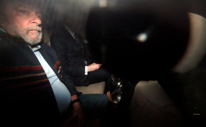 Luiz Inácio Lula da Silva, deux jours avant son incarcération, le 5 avril. © Reuters / Paulo Whitaker