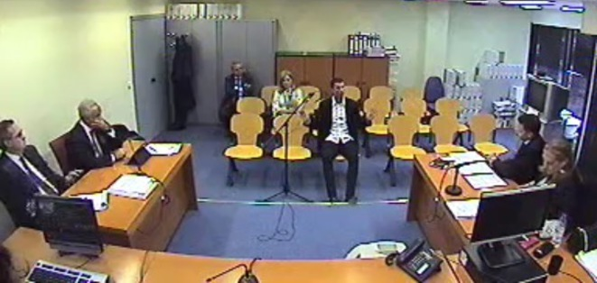 Cristiano Ronaldo lors de son audition par la juge chargée de son dossier de fraude fiscale présumé, le 31 juillet 2017 à Pozuelo de Alarcon, dans la banlieue de Madrid. © EIC