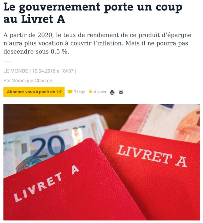 http://www.lemonde.fr/economie/article/2018/04/19/le-gouvernement-porte-un-coup-au-livret-a_5287889_3234.html