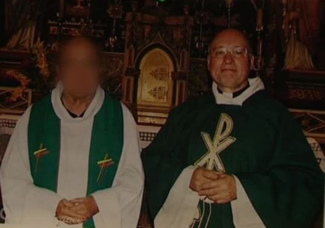 Father Pierre de Castelet, right, who is under investigation for sexually abusing around ten young boys in 1993. © DR