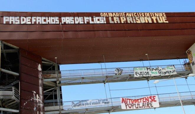 Dans le bâtiment occupé de l'université Jean-Jaurès, à Toulouse, le 18 avril 2018. © Manu Riondé