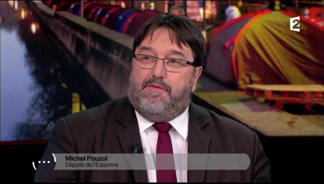 """Michel Pouzol lors d'un débat sur France 2 sur la """"pauvreté des enfants"""" le 1er février 2018."""