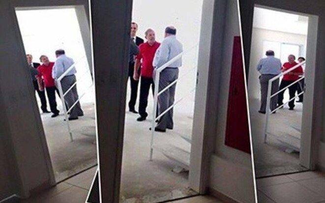 Les photos de Lula dans le triplex en compagnie des responsables d'OAS. © TVGLOBO