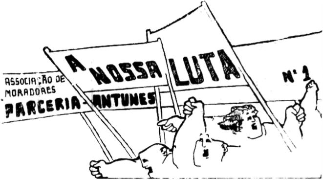 «A nosa luta / Notre lutte», bulletin de la Commission du quartier de Parceria-Antunes à Porto, 1975 (détail)