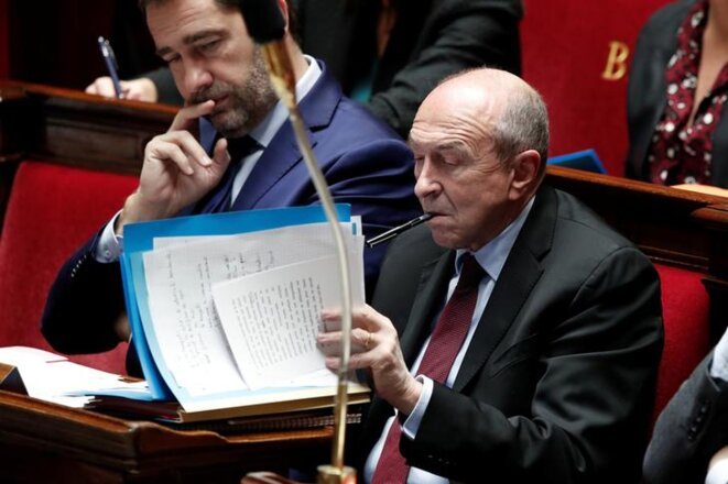 Gérard Collomb à l'Assemblée nationale. © Reuters