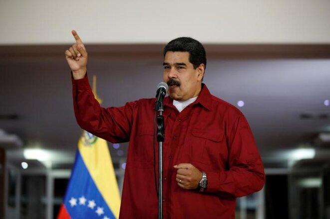 Nicolas Maduro, le 20 avril au Venezuela. © Reuters