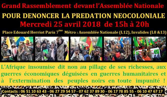 Appel à manifester devant l'Assemblée Nationale du 25/04/2018