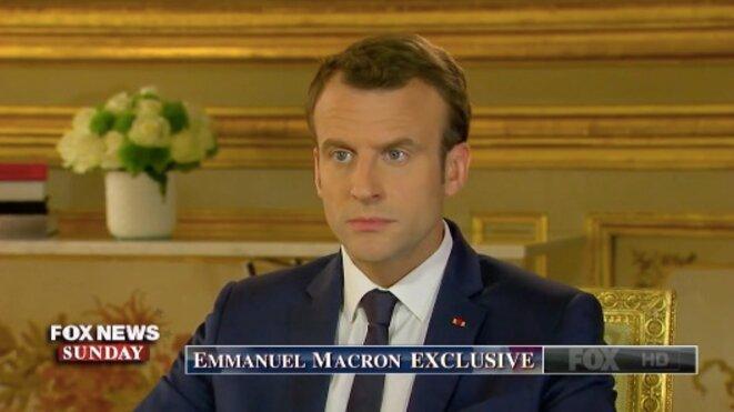 Avant son départ, Emmanuel Macron a répondu aux questions de la chaîne Fox News. © Fox News