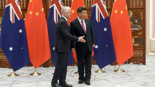 Premier ministre australien Malcolm Turnbull avec le président chinois Xi Jinping © Reuters