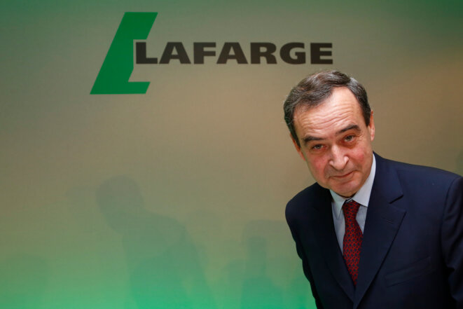 Bruno Lafont when he was CEO of Lafarge, on February 18th, 2015. © Reuters