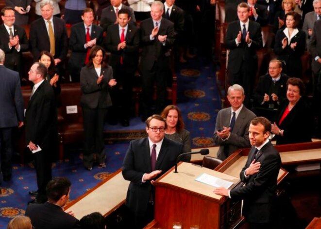 Emmanuel Macron au Congrès. © Reuters