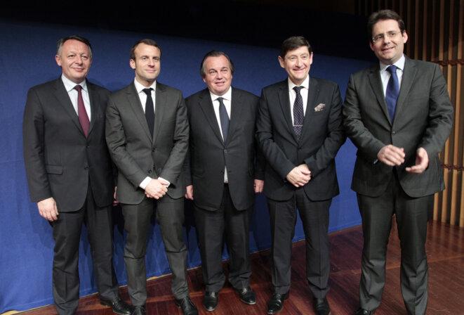 Le 24 avril 2015, à l'occasion du lancement du comité stratégique de la filière Sport. © sports.gouv.fr