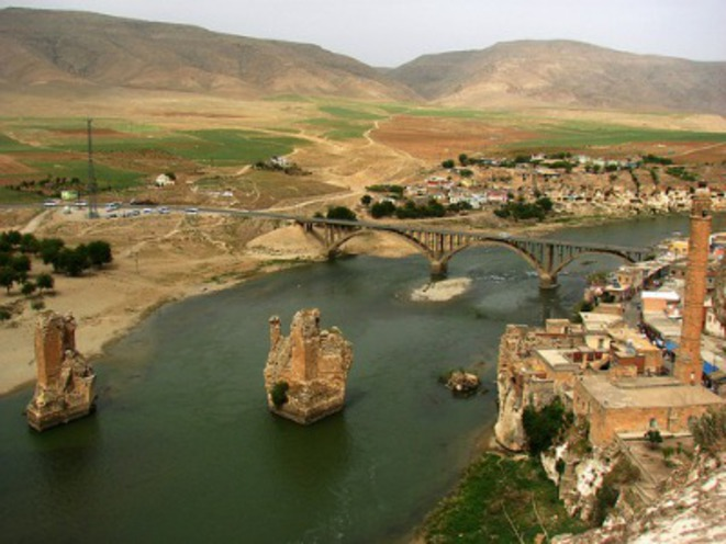 La cité antique d'Hasankeyf menacée par le barrage d'Ilisu en Turquie © Hasankeyf Senol Demir Flickr CC