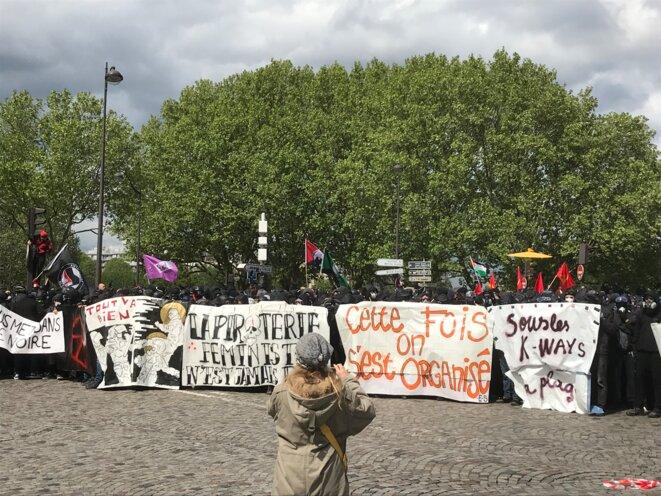 Le cortège de tête, à Paris le 1er mai. © C.G.