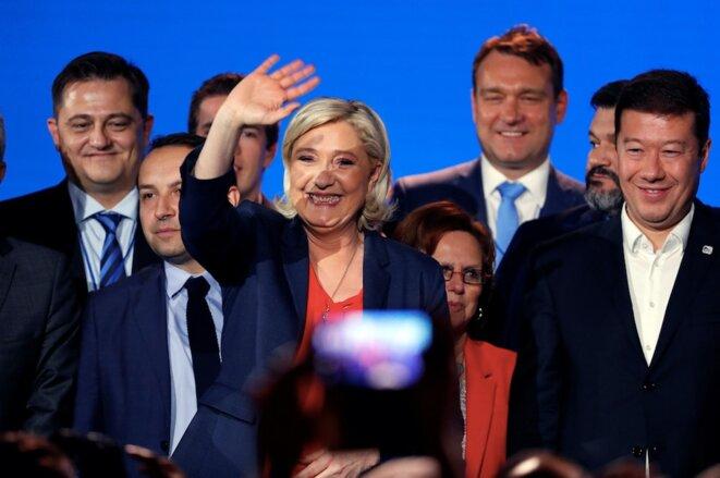 Marine Le Pen au rassemblement de Nice. © Reuters