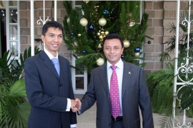 Andry Nirina Rajoelina et Marc Ravalomanana