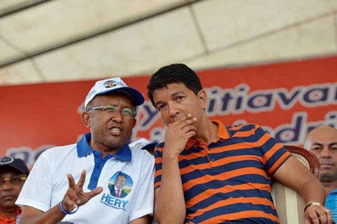 Hery Rajaonarimampianina et Andry Nirina Rajoelina