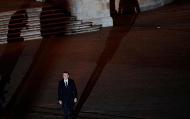 Emmanuel Macron au Louvre, le soir de son élection. © Reuters