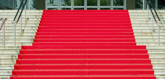 The red carpet at the Palais des festivals in Cannes.