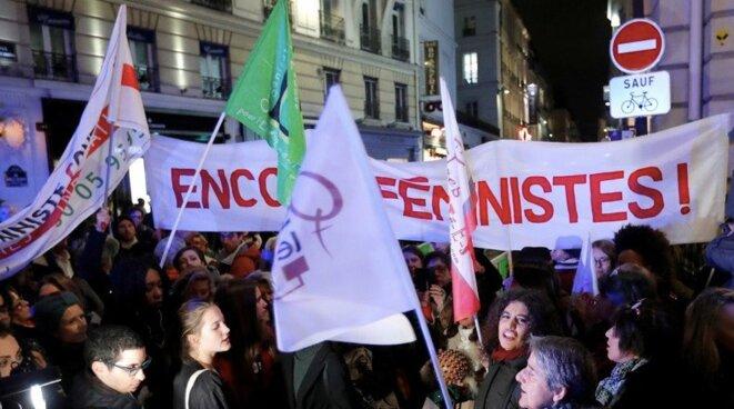 Manifestation de militantes d'Osez le féminisme. © OLF