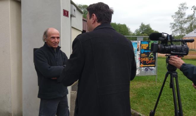 Marcel Ricordeau, président du Comité écologique ariégeois avec France 3 © Favier