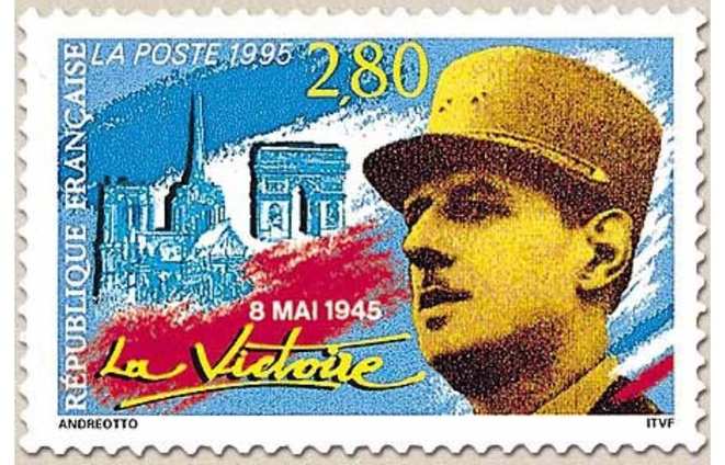 TÉMOIGNAGE PHILATÉLIQUE DE LA VICTOIRE SUR LE NAZISME © E'M.C.
