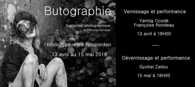 invite expo F.R. Butographie © Françoise Rondeau