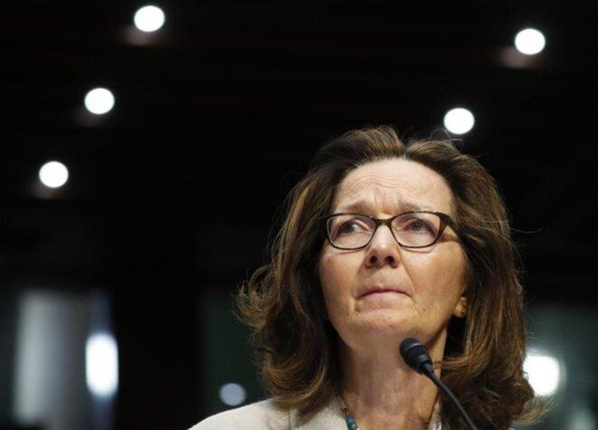 Gina Haspel, mercredi 9 mai, lors de son audition au Sénat américain. © Mathieu Magnaudeix