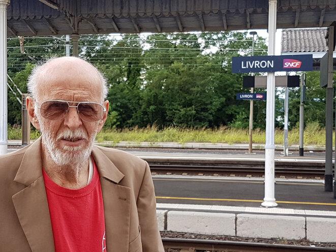 Eté 2017 Gérard-Aimé à la gare de Livron © Michel Puech