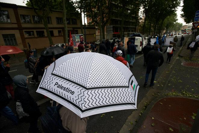 Manifestion en soutien aux manifestants palestiniens. Toulouse, 12 mai 2018 © Alain Pitton