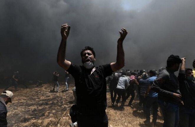 À Gaza, le 14 mai 2018. © Reuters