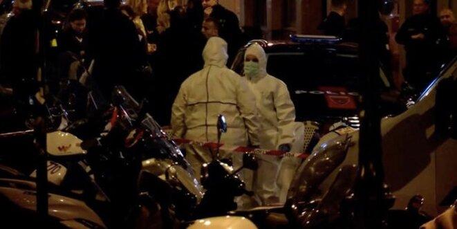 Après l'attaque au couteau samedi 12 mai dans le quartier de l'Opéra à Paris © Reuters