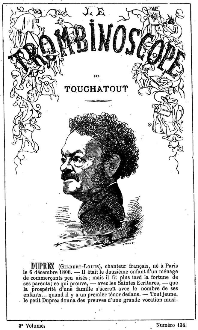 caricature de Gilbert Duprez