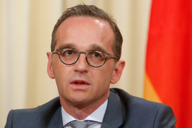 Le ministre des affaires étrangères allemand Heiko Maas, le 10 mai 2018. © Reuters/Sergei Karpukhin