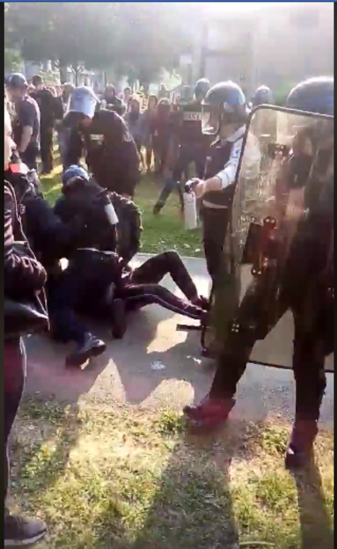 Violences policières sur le campus de Grenoble © Nicolas Marlin