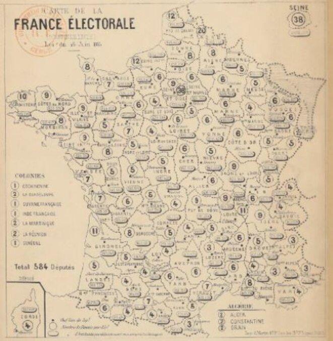 Carte électorale de 1885 - BNF Gallica