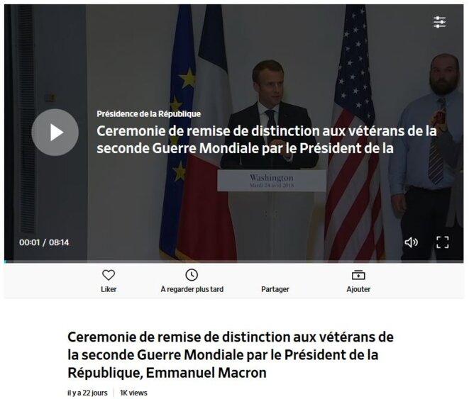 Compte officiel de la Présidence de la République sur Dailymotion