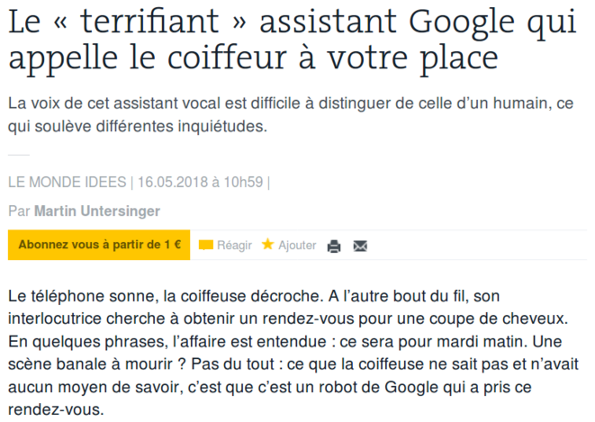 http://www.lemonde.fr/pixels/article/2018/05/16/le-terrifiant-assistant-google-qui-appelle-le-coiffeur-a-votre-place_5299701_4408996.html