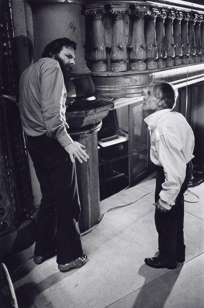 Lucian Pintilié et Alfred Baillou - Turandot 1974 © Gilles Walusinski