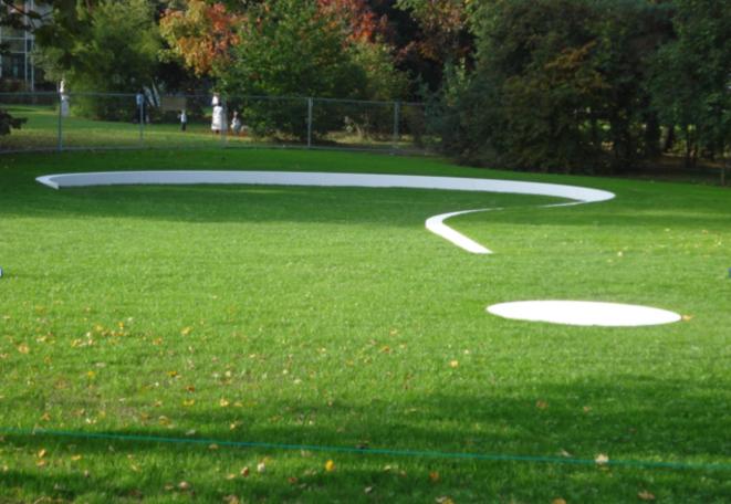 Le Jardin des Disparus, Meyrin. Installation d'Anne Blanchet, 2010