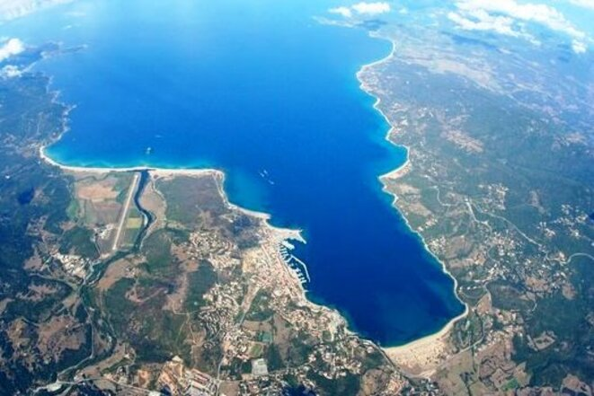 Valincu vu du ciel © EPV Ecole de Parachutisme du Valinco