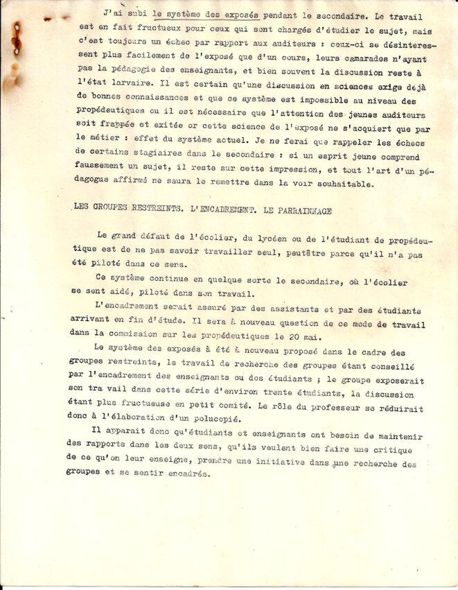 Propositions pour une réorganisation des cours magistraux © Commission enseignement, sciences, Jussieu