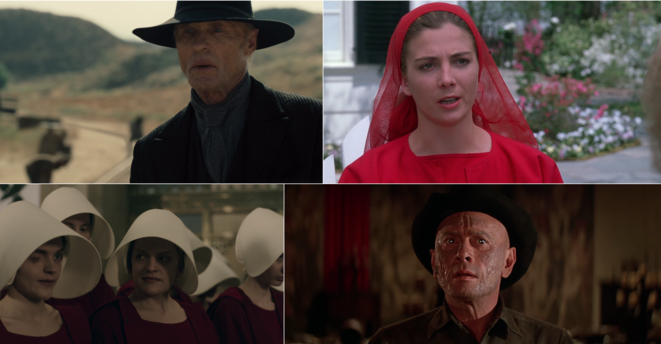 Images croisées de «Westworld»et de «The Handmaid's Tale».